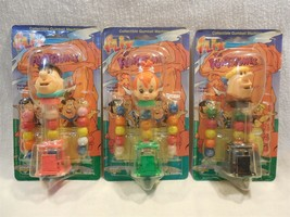Flintstones 1994 Flix Collectible Gumball Machine Dispenser Set of 3 MOC - $9.95
