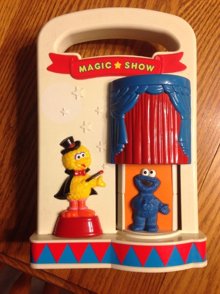 Primary image for Tyco Sesame Street Magic Show Baby Toy 1993 Big Bird Cookie Monster Ernie Elmo