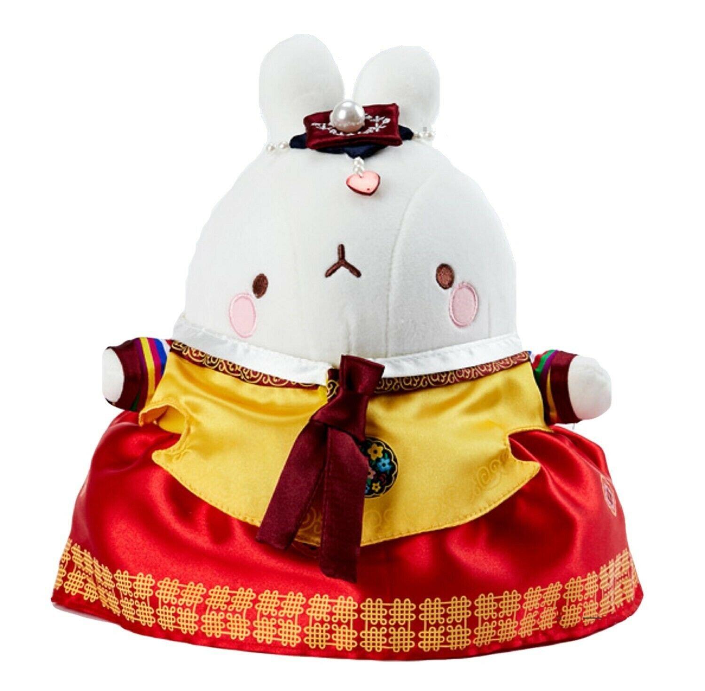 "Molang Hanbok Stuffed Animal Rabbit Plush Toy Korean Costume 10.2"" (Female)"