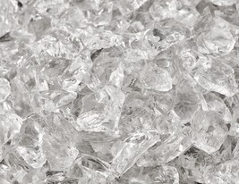 """10 Lbs of Fire Glass 3/8""""-1/2"""" Crushed Ice Fireglass for Fireplace or Fi... - $27.72"""