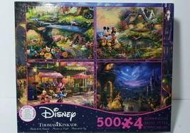 Disney 4-500 Pcs Puzzle SETS-THOMAS Kinkade:Mickey &MINNIE/ALICE/BEAUTY&B 3669-1 - $24.99