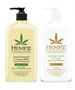 Hempz 2 Pack Sweet Pineapple + Tahitian Vanilla And Ginger Moisturizer 1... - $23.75