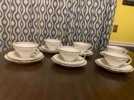 Vintage Winterling Roslau Bavaria 3 Pc Tea Cup Saucer Plate Silver Grail... - $84.15