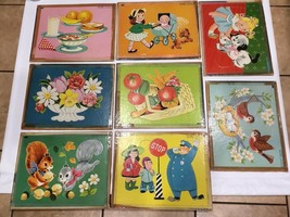 Whitman Publishing LOT OF 8 Vintage Tray Puzzles Made in USA 14.5x11.5 - $17.72