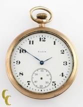 Elgin Antique Open Face Gold Filled Pocket Watch Gr 303 Size 12 7 Jewel - $518.08