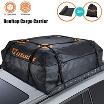 Natudix Car Rooftop Cargo Carrier Bag - 15 Cubic Feet Waterproof & Sturd... - $58.25