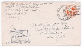 WORLD WAR II EXAMINED MAIL  APO 403 US ARMY POSTAL SERVICE JAN 3 1945 - $3.48