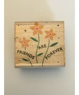 Hero Arts Rubber Stamp Thanks Friends Are Forever Bouquet Flowers Wildfl... - $4.00