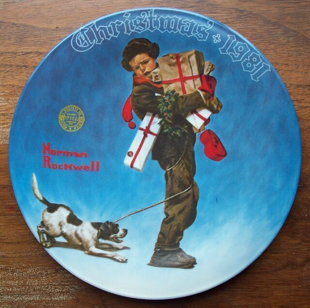 1981 Norman Rockwell Wrapped Up Knowles Collector Plate MIB