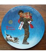 1981 Norman Rockwell Wrapped Up Knowles Collector Plate MIB - $13.95