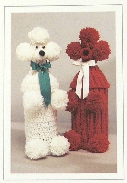Knit & Crochet JAO Pattern POODLE BOTTLE COVERS!
