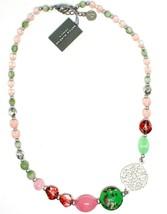 Necklace Antica Murrina Venezia with Murano Glass Fuchsia & Pink COB40A08 - $69.20