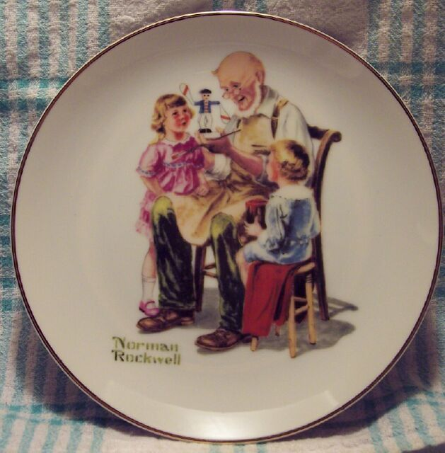1984 Norman Rockwell Museum The Toymaker Collector Plate
