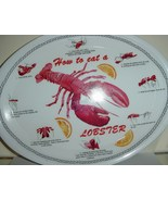 How to eat Lobster Oval Plastic Plates Platters 8 ct - $18.50