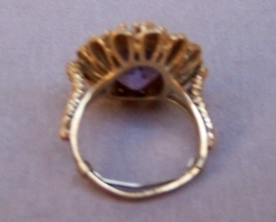 Ring   Amethyst  14K Gold   5.75