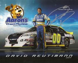 2011 DAVID REUTIMANN #00 AARON'S NASCAR POSTCARD SIGNED - $11.75