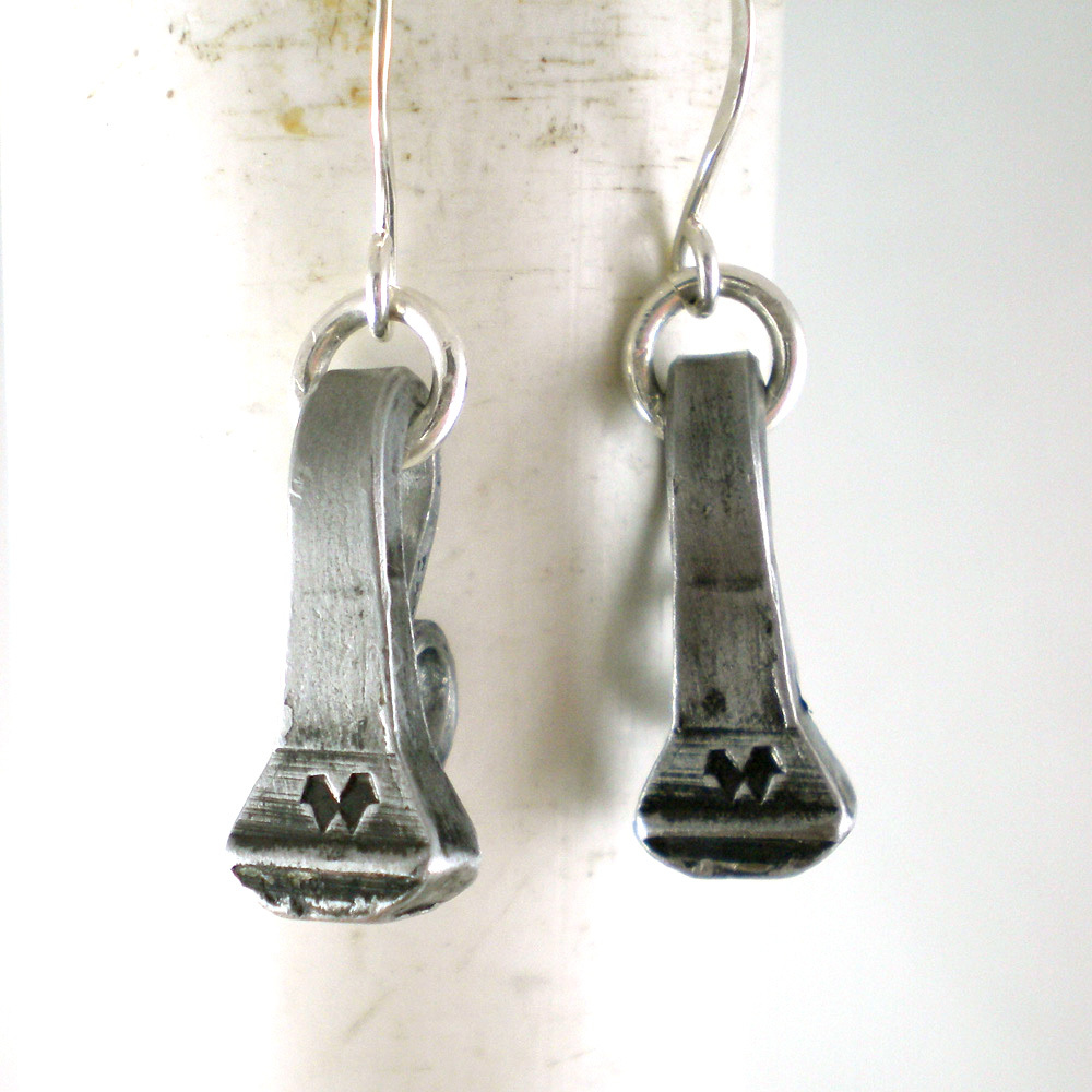 Horseshoe Nail Earrings