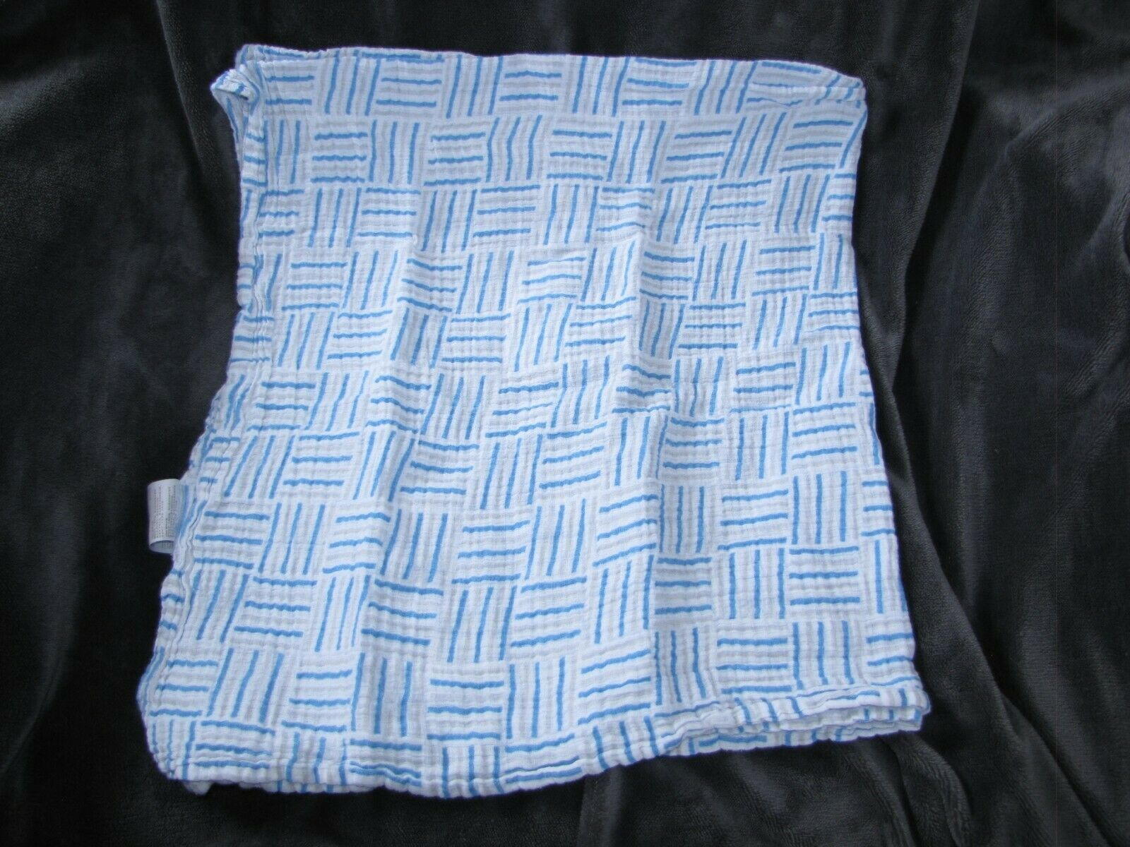 Primary image for Aden And Anais Swaddle Muslin Blanket 44x44 Gray Blue Squiggle Line Square