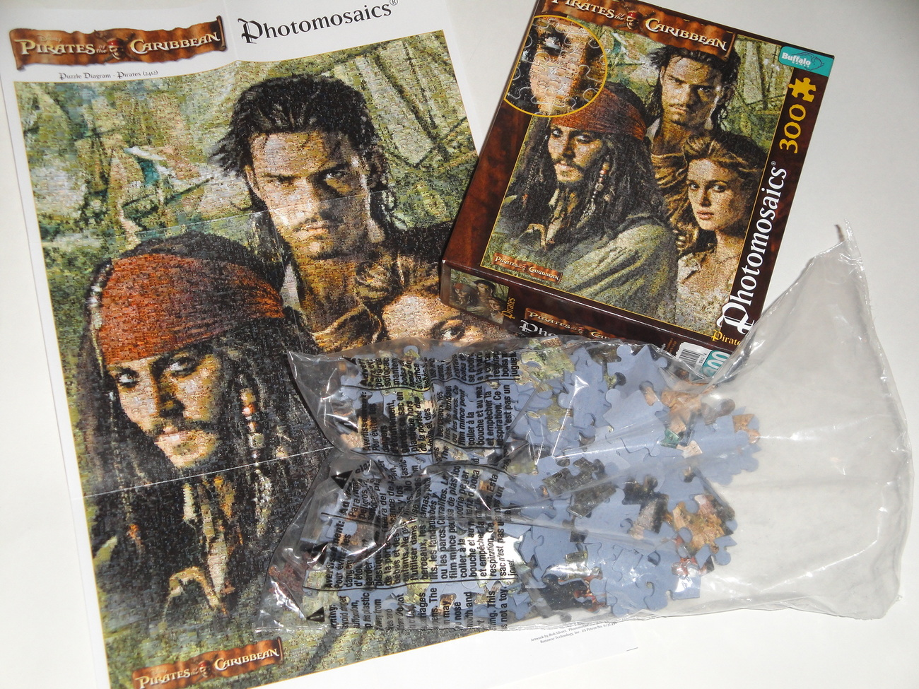 Photomosaic Pirates of the Caribbean 300 Piece Puzzle.