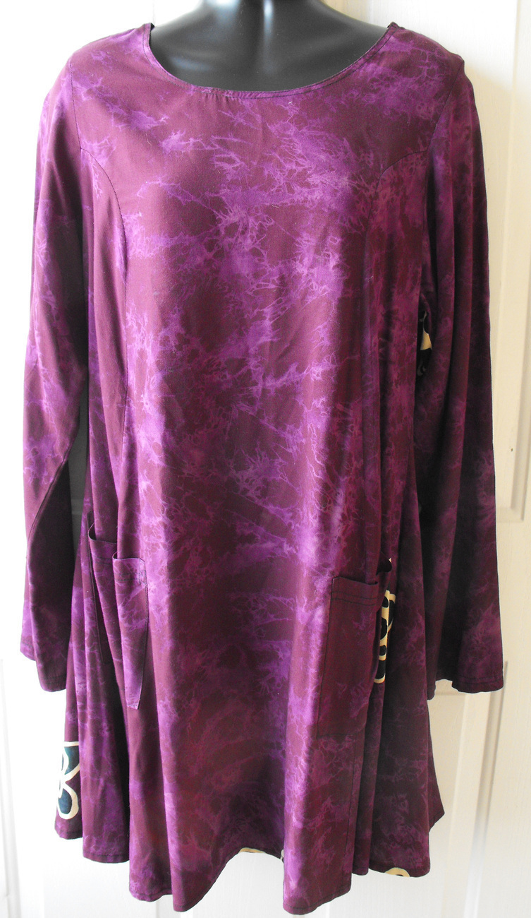Primary image for Hary Dary Indonesian Purple Grape Dress Tunic S M