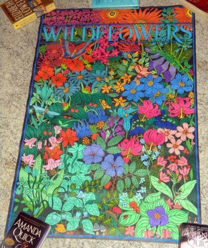 1995 Super Tube coloring poster Wild Flowers and 50 similar items