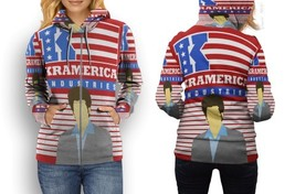 hoodie women zipper kramerica - $48.99+