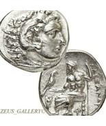 ALEXANDER the Great Lifetime Ancient Greek Silver Coin Herakles Zeus Dem... - $620.10