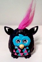 Hasbro Furby Miniature Toy Hot Pink Hair Black Aqua Pink Body 3 D Eyes 2... - $9.50