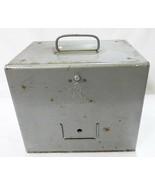 Vtg Brumberger 8 mm metal reel holder case storage bin 1950 mid century - $34.65