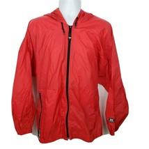 Helly Hansen Packable Nylon Rain Jacket Windbreaker With Hood Size L - $47.51