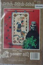 """Wall Hanging Pattern """"Stitch Stitch Stitch"""" Mini Quilt 11"""" x 20.5"""" - $5.00"""