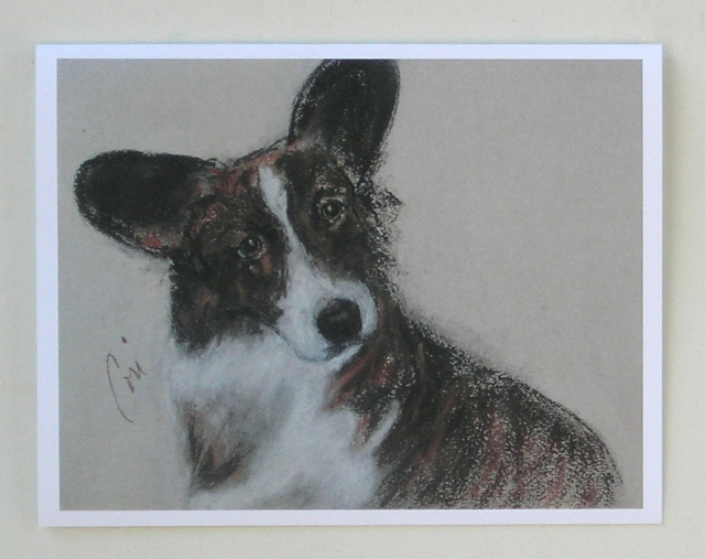 Cardigan welsh corgi note cards by cori solomon