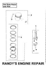 K321 K582 M14 Piston Rings Set Old Style Standard .003 - $63.99