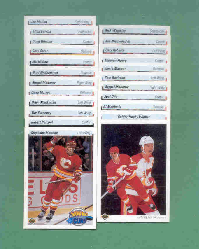 1990/91 Upper Deck Calgary Flames Hockey Team Set