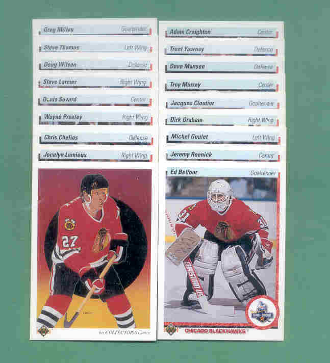 1990/91 Upper Deck Chicago Blackhawks Hockey Set