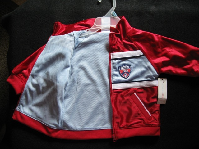 Jacket And Pants Reversible Sports Outfit-Boys-Red-2 Toddler