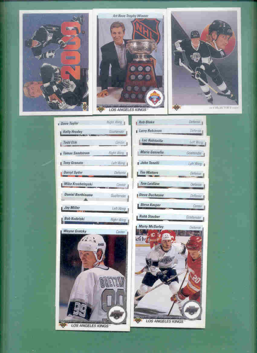 1990/91 Upper Deck Los Angeles Kings Hockey Team Set