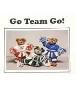 Knit/Crochet Pattern CHEERLEADER BEARS! Go-Team-Go! JAO Patt - $3.99
