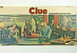 Clue Board Game 1972 Parker Brothers Edition Compete Set Resealed Detective - $44.55