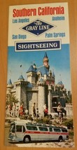 Gray Line Southern California Disneyland sightseeing brochure vintage 1970s - $9.70