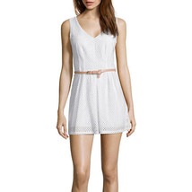 City Triangles Sleeveless Belted Crochet Romper Juniors Size 9 Msrp $52.00 - $16.99