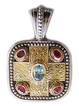 Gerochristo 3290 - Gold, Silver, Topaz & Rubies - Medieval-Byzantine Pe... - $1,300.00