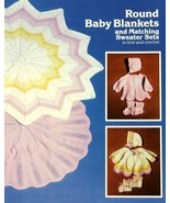 Knit & Crochet Pattern ROUND BABY BLANKETS & SWEATER SET Vol 1  - $3.99
