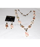 Card Luck-Playing Card and Swarovski Crystal Necklace & Earring Set - $260.00
