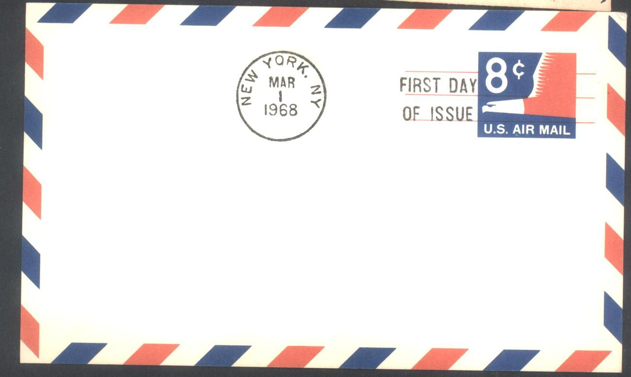 8 cents air mail post card fdc