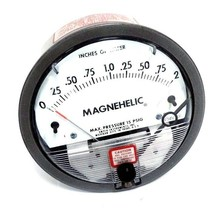 DWYER MAGNEHELIC W34V SF PRESSURE GAUGE 0-2'' OF WATER