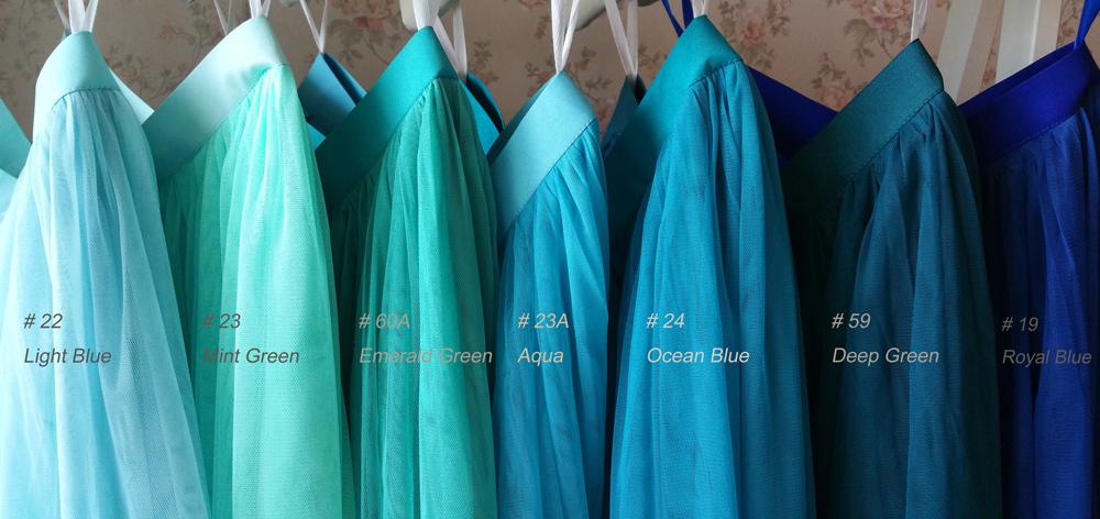 MINT GREEN Maxi Full Tulle Skirt High Waist MINT Wedding Bridesmaid Full Skirts