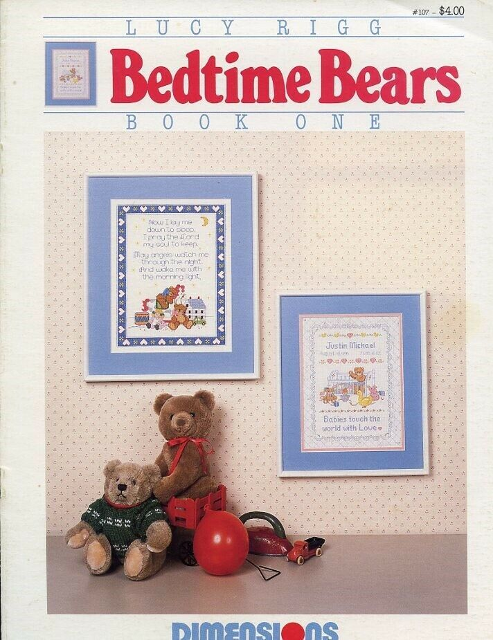 Bedtime Bears Book One Cross Stitch Pattern Leaflet. 2 designs for children