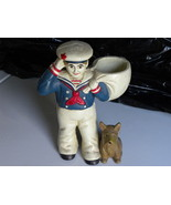 Door Stop Sailor With Basket And Dog Cast Iron - $19.99