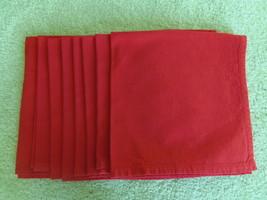 8 PRIMITIVE ARTISAN INC RED NAPKINS 21 X 21 - $14.99